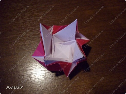 Мастер-класс Оригами, Оригами модульное: Розочки Кавасаки в вазочке+МК Бумага. Фото 48