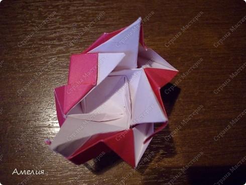 Мастер-класс Оригами, Оригами модульное: Розочки Кавасаки в вазочке+МК Бумага. Фото 49