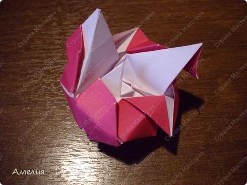 Мастер-класс Оригами, Оригами модульное: Розочки Кавасаки в вазочке+МК Бумага. Фото 50