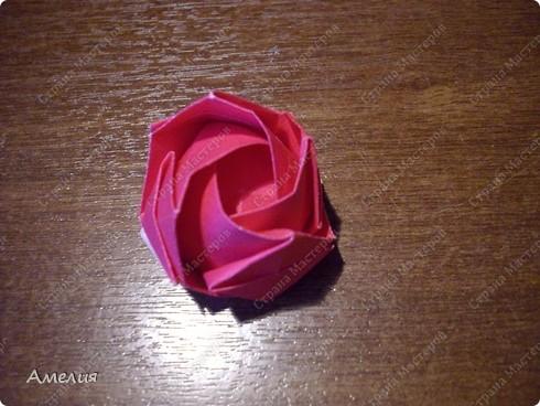 Мастер-класс Оригами, Оригами модульное: Розочки Кавасаки в вазочке+МК Бумага. Фото 52