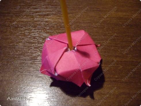 Мастер-класс Оригами, Оригами модульное: Розочки Кавасаки в вазочке+МК Бумага. Фото 55