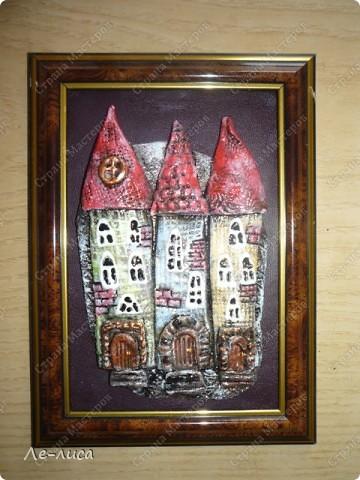 Мастер-класс Коллаж, Лепка: Мои любимые домики Тесто соленое. Фото 1
