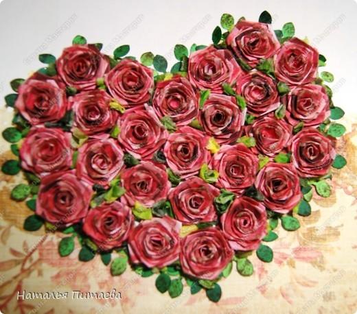 Открытка маме на день рождения с розами своими руками