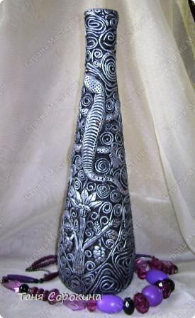 Декор предметов Бумагопластика: И снова имитация металла. Пейп-арт. Салфетки. Фото 2