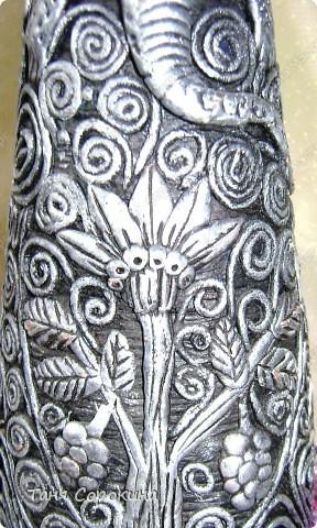 Декор предметов Бумагопластика: И снова имитация металла. Пейп-арт. Салфетки. Фото 1