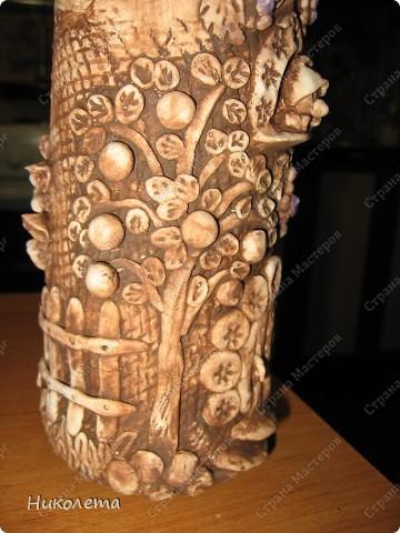 """Декор предметов, Мастер-класс Лепка: Как я делаю """"Домик для гномиков """" Бутылки стеклянные, Тесто соленое День рождения. Фото 23"""