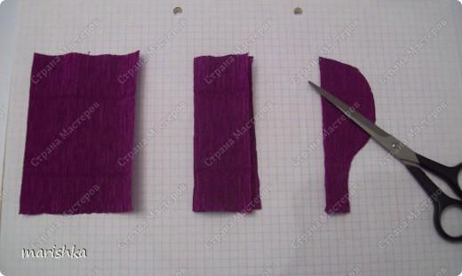 Мастер-класс, Свит-дизайн Бумагопластика: МК ирисы - часть1 Бумага гофрированная. Фото 4