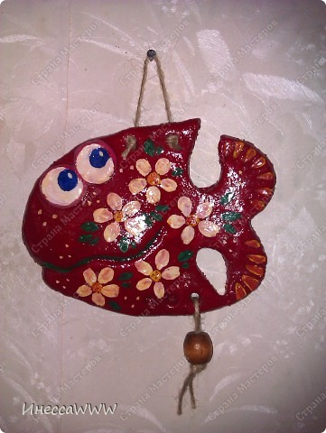 Мастер-класс Лепка: Рыбки и коты из соленого теста Тесто соленое. Фото 4