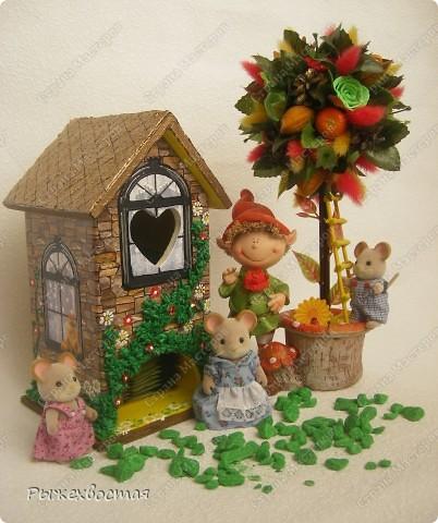 Поделка, изделие Декупаж: Чайный домик или домик для мышиков:)
