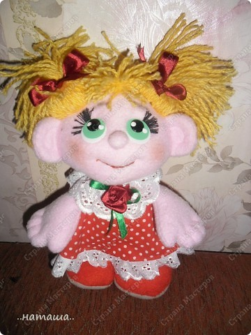 Игрушка, Куклы Шитьё: Куклята Пряжа, Пуговицы, Ткань. Фото 9