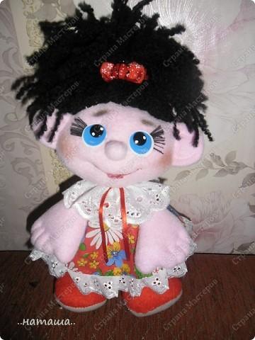 Игрушка, Куклы Шитьё: Куклята Пряжа, Пуговицы, Ткань. Фото 8