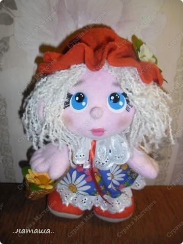 Игрушка, Куклы Шитьё: Куклята Пряжа, Пуговицы, Ткань. Фото 11