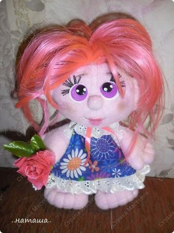 Игрушка, Куклы Шитьё: Куклята Пряжа, Пуговицы, Ткань. Фото 14
