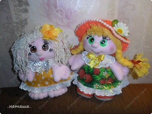 Игрушка, Куклы Шитьё: Куклята Пряжа, Пуговицы, Ткань. Фото 18