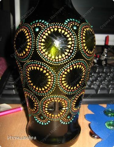 Декор предметов Роспись: Зелёная фантазия Бутылки стеклянные, Краска, Стекло. Фото 9