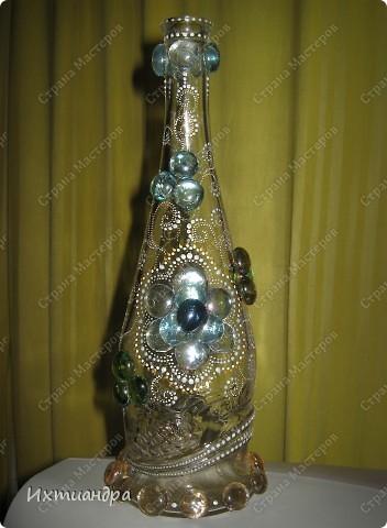 Декор предметов, Мастер-класс Роспись: Хрустальная сказка Клей, Краска, Стекло. Фото 6