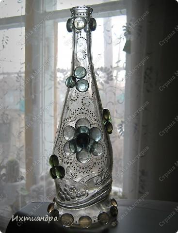Декор предметов, Мастер-класс Роспись: Хрустальная сказка Клей, Краска, Стекло. Фото 11