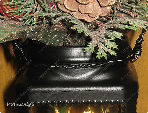Декор предметов, Мастер-класс Витраж, Роспись: Баночка? Ваза? Фонарь! Краска, Проволока День рождения. Фото 14