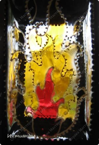 Декор предметов, Мастер-класс Витраж, Роспись: Баночка? Ваза? Фонарь! Краска, Проволока День рождения. Фото 17