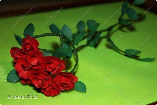 Мастер-класс, Поделка, изделие Бумагопластика, Квиллинг: Ваза с розами и мини МК Бумага, Бумажные полосы, Бусинки, Проволока. Фото 15