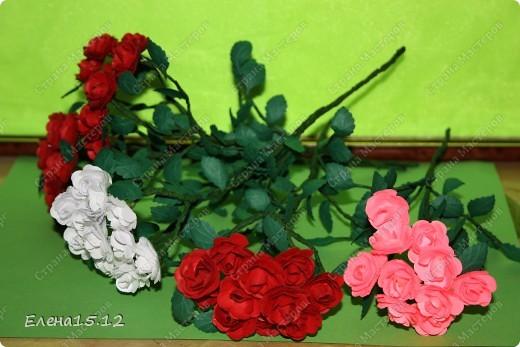 Мастер-класс, Поделка, изделие Бумагопластика, Квиллинг: Ваза с розами и мини МК Бумага, Бумажные полосы, Бусинки, Проволока. Фото 16