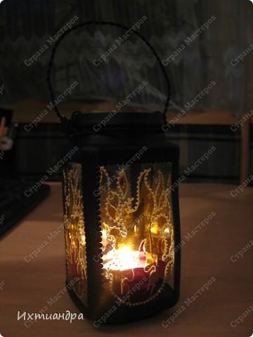 Декор предметов, Мастер-класс Витраж, Роспись: Баночка? Ваза? Фонарь! Краска, Проволока День рождения. Фото 25