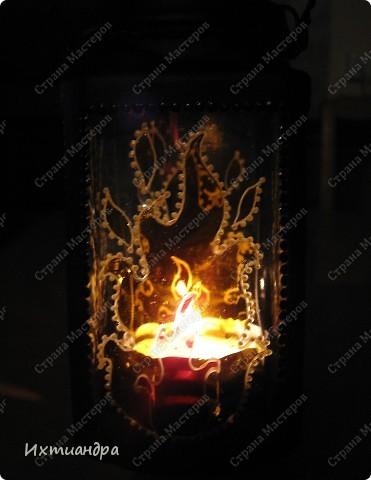 Декор предметов, Мастер-класс Витраж, Роспись: Баночка? Ваза? Фонарь! Краска, Проволока День рождения. Фото 27