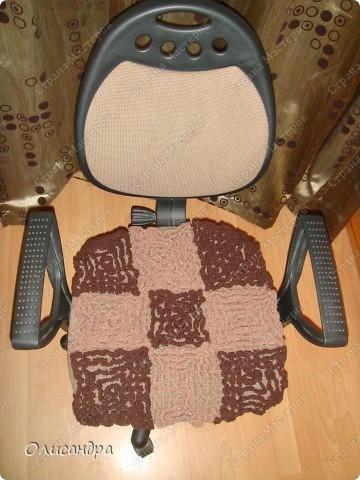 Декор предметов Вязание крючком Обновка для кресла Пряжа фото 1