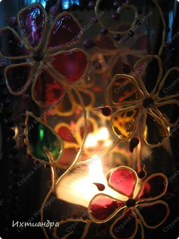 Декор предметов, Мастер-класс Витраж, Роспись: Баночка? Ваза? Фонарь! Краска, Проволока День рождения. Фото 32