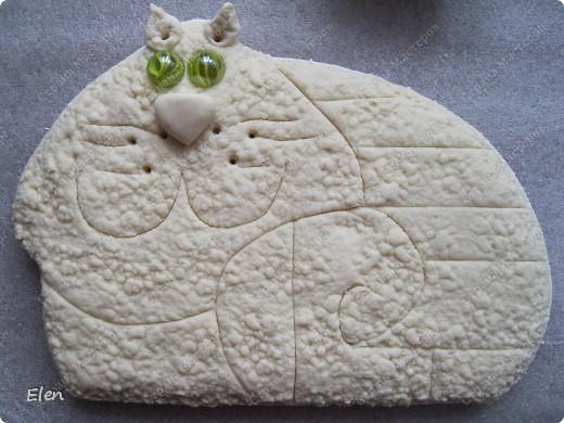 Мастер-класс, Поделка, изделие Лепка: Вишневый кот Гипс, Тесто соленое. Фото 13