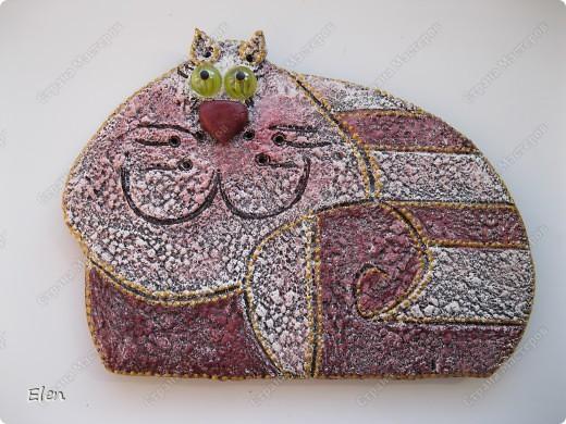 Мастер-класс, Поделка, изделие Лепка: Вишневый кот Гипс, Тесто соленое. Фото 1