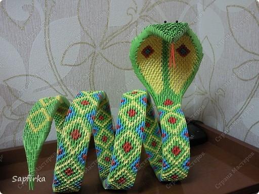 Модульное оригами змея как сделать