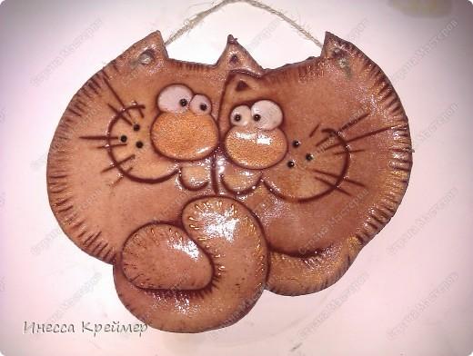 Мастер-класс Лепка: Коты неразлучники и другие... Тесто соленое Валентинов день. Фото 1