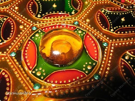 Мастер-класс, Поделка, изделие Витраж, Роспись: Золотая черепаха! Диски компьютерные, Клей, Краска. Фото 22