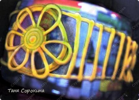 """Мастер-класс, Поделка, изделие Бумагопластика: Браслет """"Золотое кружево"""". Пейп-арт. Мастер-класс. Салфетки. Фото 6"""