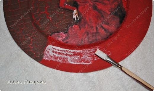 "Мастер-класс Декупаж: Тарелка ""Фламенко"" Бумага. Фото 11"