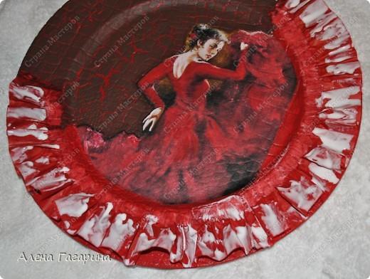 "Мастер-класс Декупаж: Тарелка ""Фламенко"" Бумага. Фото 14"