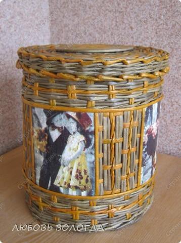 Мастер-класс Плетение: бочоночек со вставками  Бумага газетная. Фото 4