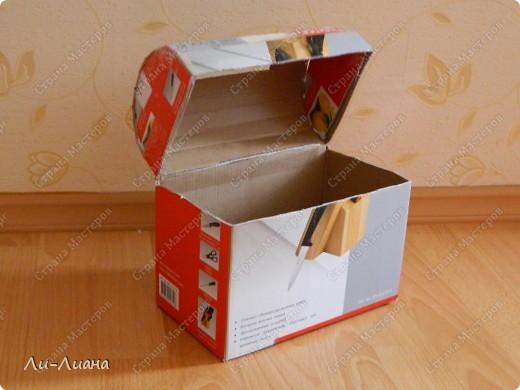 Как сделать сундук из коробки на свадьбу своими руками