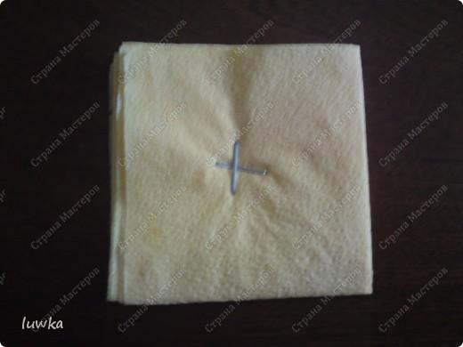 Поделка, изделие Бумагопластика: Для новичков подробный МК часть1 Салфетки. Фото 5