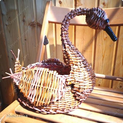 Мастер-класс Плетение: лебедь- гусь из газет Бумага газетная. Фото 4