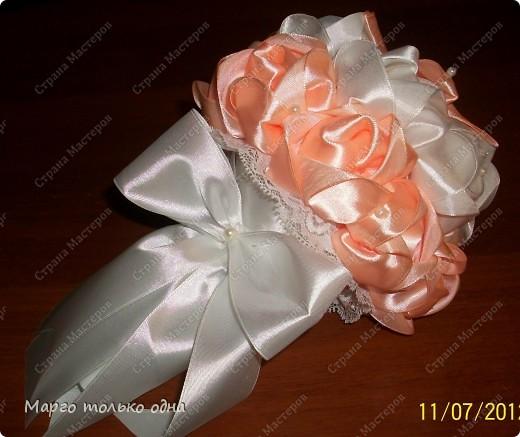 Мастер-класс: Букет невесты - дублер + МК Ленты Свадьба. Фото 19