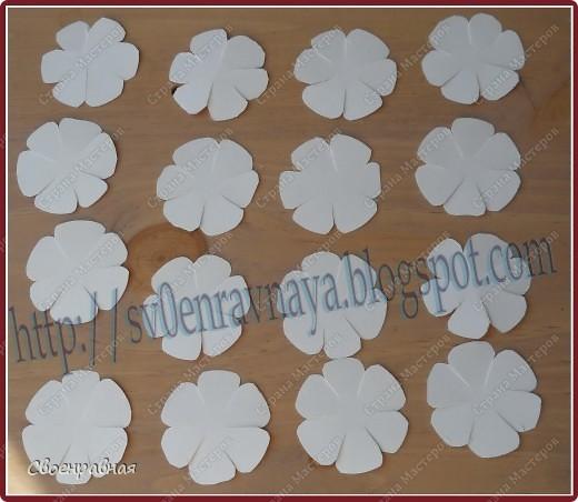 Мастер-класс Бумагопластика: Цветы из бумаги Бумага Свадьба. Фото 2