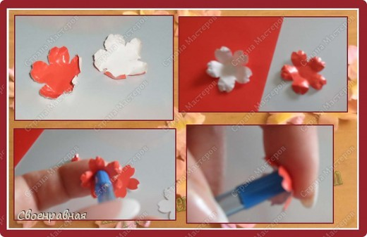 Мастер-класс Бумагопластика: Цветы из бумаги Бумага Свадьба. Фото 14