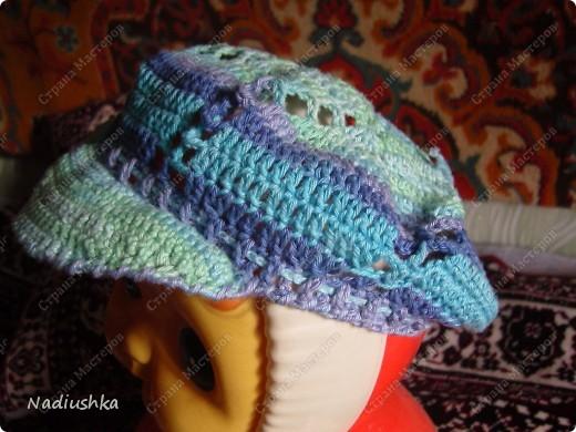 вязание козырька шапки