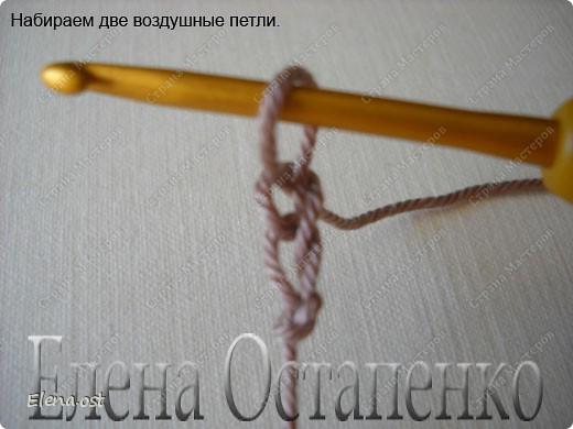 Мастер-класс Вязание, Вязание крючком: Эластичный наборный край крючком Пряжа. Фото 2