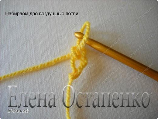 Мастер-класс Вязание, Вязание крючком: Эластичный наборный край крючком Пряжа. Фото 11