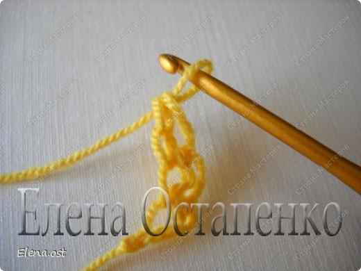 Мастер-класс Вязание, Вязание крючком: Эластичный наборный край крючком Пряжа. Фото 19