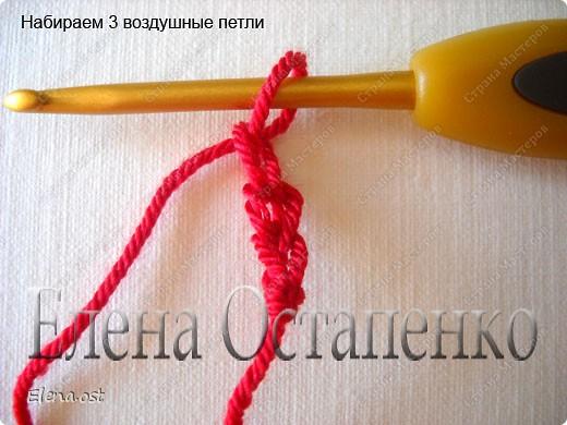 Мастер-класс Вязание, Вязание крючком: Эластичный наборный край крючком Пряжа. Фото 21