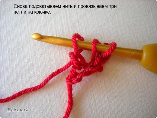 Мастер-класс Вязание, Вязание крючком: Эластичный наборный край крючком Пряжа. Фото 24